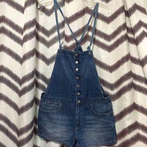Denim - AE denim overalls shorts size Meium